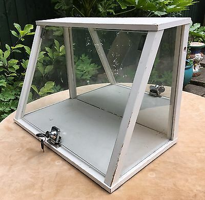 Table Top Display Case Cabinet Jewellery Antique Vintage Boot Fair Shop & Stand
