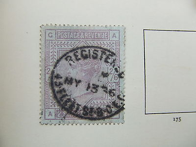 SG 175 2/6 lilac on Blued Paper (C-A), clear postmark very blued paper