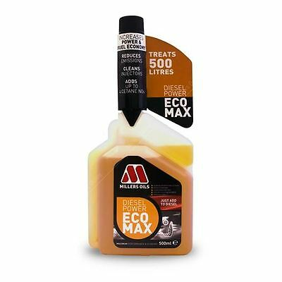 Millers Oils Diesel Power Ecomax Fuel Treatment Additive 500ml New Improved