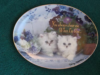 """Franklin Mint """"true Blue Friends"""" Limited Edition Collectors Plate, Kittens. Vgc"""