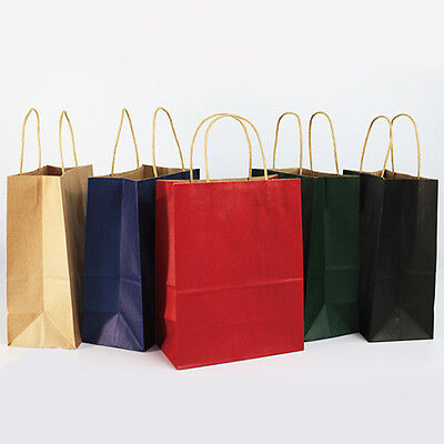 1X Recyclable Handle Craft Paper Gift Bags Birthday Shop With Clothes Tea