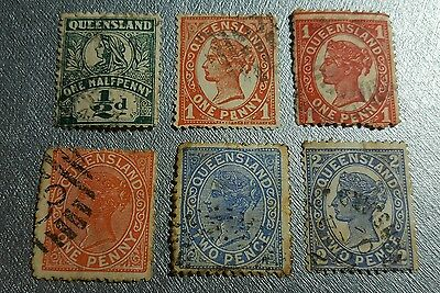 Queensland 1897 used stamp lot with watermark
