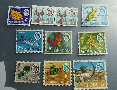 Rhodesia and Souther Rhodesia pre-decimal stamps