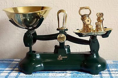Librasco Vintage Style Kitchen Scales, Complete With Brass Imperial Bell Weights