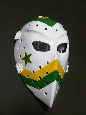 Vintage Fiberglass Hockey Goalie Mask Dallas Stars style