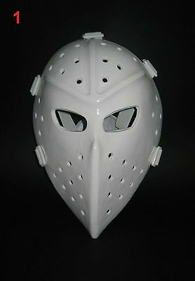 Vintage Fiberglass Hockey Goalie Mask-White