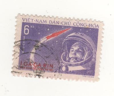 1961 North VIETNAM 6d. World's first manned space flight stamp SG#N170  Used