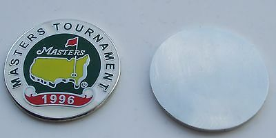 FLAT 1 inch 1996 US MASTERS  Golf ball marker  ..  won by Nick Faldo