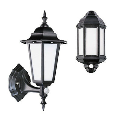 LED Outdoor Security 7 Watt Integrated Half Lantern / Full Lantern Black/White
