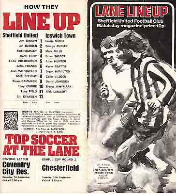 Sheffield United v Ipswich Town, Division 1, 31st, August, 1974.