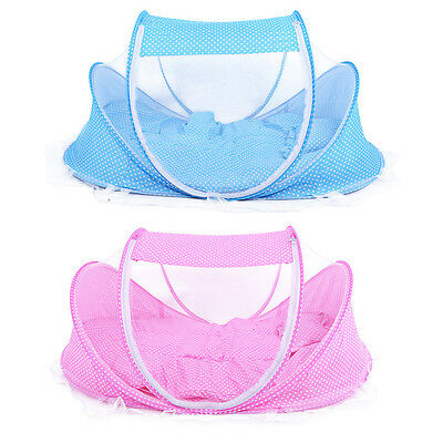 5pcs/Set Baby Bed Crib Sets Portable Folding Infant Pad With Sealed Mosquito Net