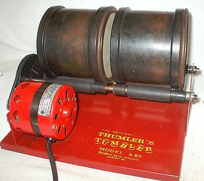 Thumler A-R2 Rock Cartridge Tumbler Two Barrel Polishing Polisher Made USA