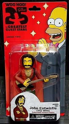 "The Simpsons 25 Years Greatest Guest Stars JOHN ENTWISTLE 5"" Figure New! The Who"