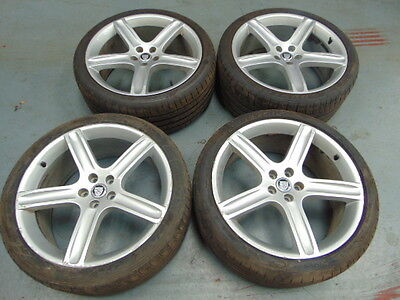 "Set Of 4 Jaguar Alloy Wheels With Tyres 20"" Diectional Tyres"