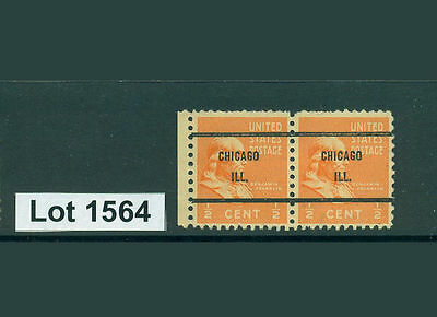 Lot 1564..United States..Chicago IL pair of precancelled stamps