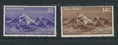 1953 India Mount Everest stamp set Mint Hinged