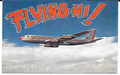 Airplane Postcard: American Airlines 707 Jet Flagship Flying Hi!