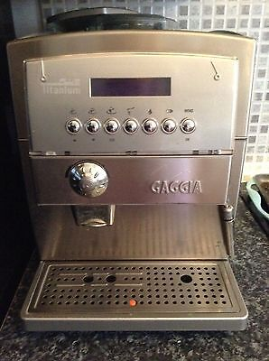 gaggia titanium fully automatic bean to cup coffee machine. Black Bedroom Furniture Sets. Home Design Ideas
