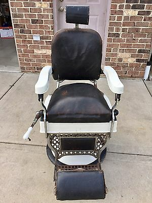 Vintage KOKEN Barber Chair with PAIDAR Spring Cushion Headrest
