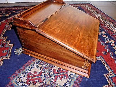 Antique Wooden Desk Top Writing Slope With Gallery