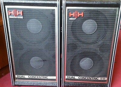 VINTAGE 1970s HH ELECTRONICS SPEAKER CABS - CLASSICS IN STUNNING CONDITION