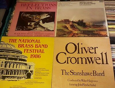 Collection Of 4 Brass Bands Vinyl Lps L@@k