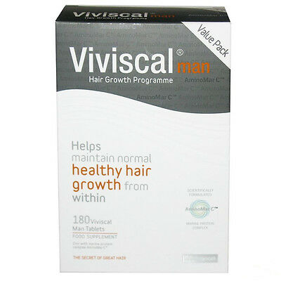 Viviscal Man Max Strength Hair Supplement 3 Month Supply 180 Tablets Exp 02.2019