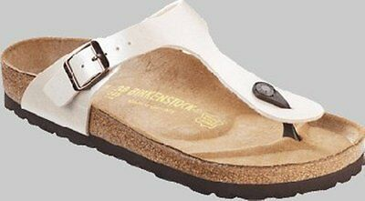 bb22000121b8 Womens Ladies Birkenstock Gizeh Graceful Antique Pearl White Toe Post Sandal