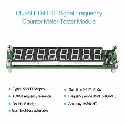 PLJ-8LED-H RF Signal Frequency Counter Meter Tester Module 0.1~1000MHz LED GA