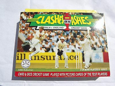 Clash for the Ashes. Australia v. England. Cricket card game