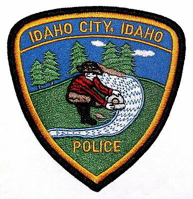 IDAHO CITY IDAHO ID Police Sheriff Patch GOLD MINER OLD SALT RIVER ~