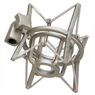 Plastic Square Spider Shock Mount for Microphone Large Size Silver