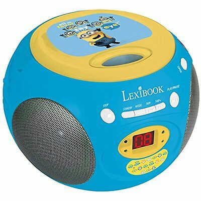 Lexibook Minions Tragbarer CD-Player mit Radio AUX Musik Boombox CD Musik Player