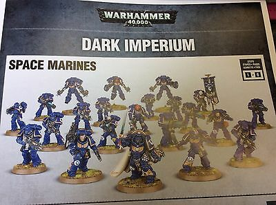 Dark Imperium Warhammer 40K Primaris Space Marines Army on Sprue, with Index
