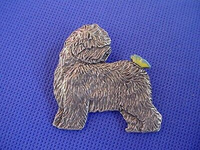 Old English Sheepdog Butterfly pin #58B Pewter Dog Jewelry by Cindy A. Conter