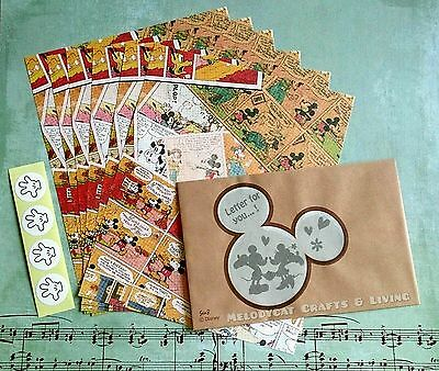 DISNEY LETTER SET! WRITING PAPER ENVELOPES, Comics Mickey & Minnie