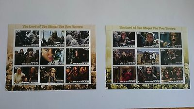 Republique du Benin 2003 2 x mini sheet, Lord of the Rings, Two Towers
