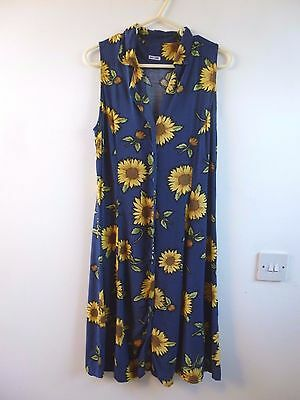 Unbranded true vintage floral festival/summer/boho/tea dress  size S sunflower