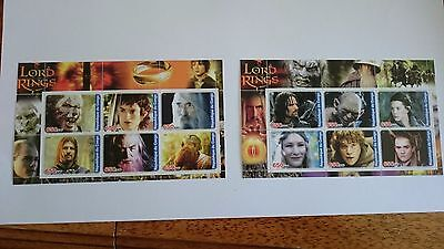 Republique du Congo  2003 2 x mini sheet, Lord of the Rings