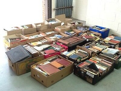 Job Lot Of Vintage Books, 26 Boxes, Collectable Antique Reading House Clearance