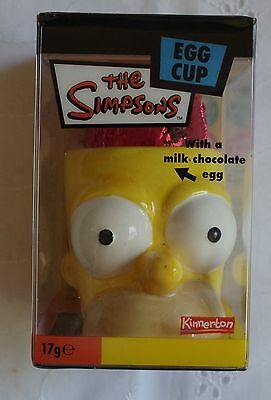 The Simpsons Egg Cup with a chocolate egg