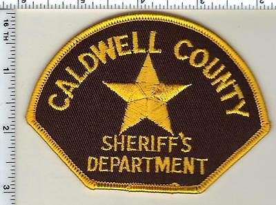 Caldwell County Sheriff's Dept. (North Carolina)  Shoulder Patch from 1992