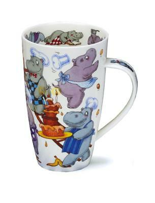 Gorgeous 'Troublemakers' Hippo by Dunoon Fine Bone China Large Mug Henley Style