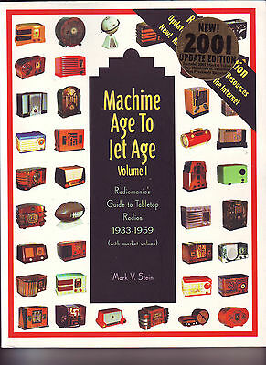 Radiomania MACHINE AGE TO JET AGE table top radio price guide book huge & minty