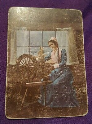 Rare Vintage Old Wide Swap Playing Card Ladies Good Condition AV