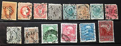 Small Collection Of 14 Austria Emperor Franz Joseph Stamps 1867-1908 Used #