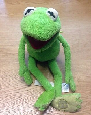 """Disney Store - The Muppets - 16"""" Kermit The Frog Plush Soft Toy"""