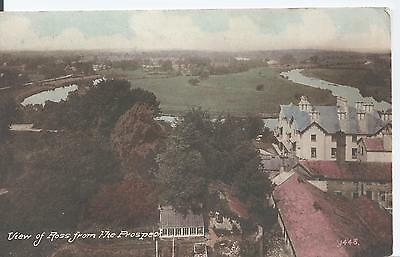 Postcard - View of Ross from the Prospect Herefordshire posted 1926