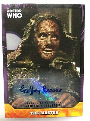 Dr Who Signature Series Geoffrey Beevers 01/10 As The Master Autograph Card