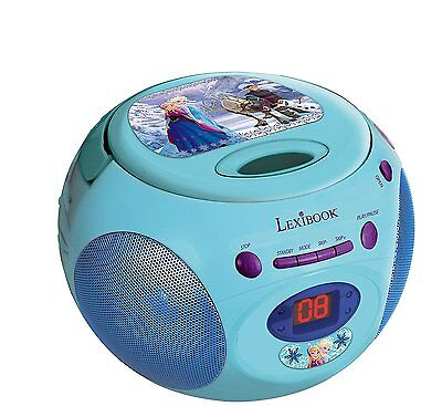 Lexibook Disney FROZEN Eiskönigen Tragbarer CD-Player Radio AUX Musik Boombox CD